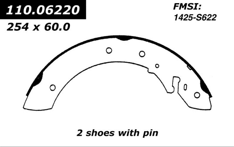 centric brake shoes 1984