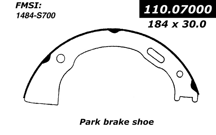 Centric Emergency Parking Brake Shoes Jeep 111.07000