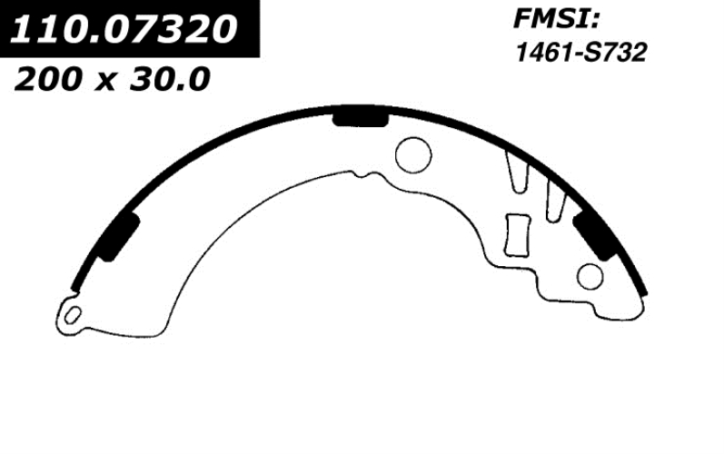 732RP New Brake Shoes 1997 - 2001 Chevrolet