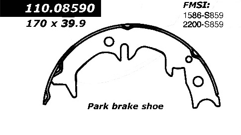 New C Tek Parking Brake Shoes Lexus Toyota 110