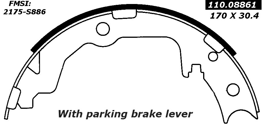 Centric Emergency Parking Brake Shoes 111.08861