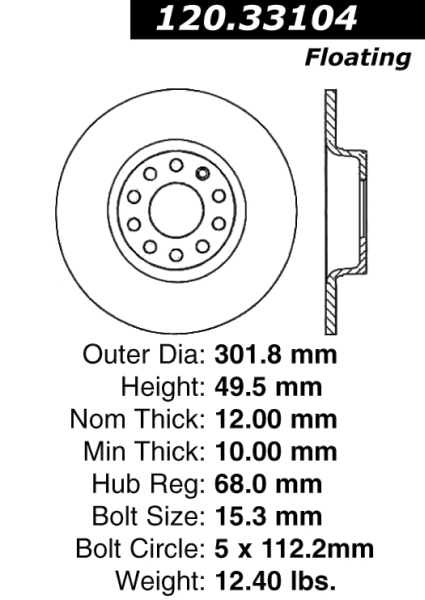 monthly specials for july Audi A6 Undercarriage rear c tek brake rotor audi a6 121 33104