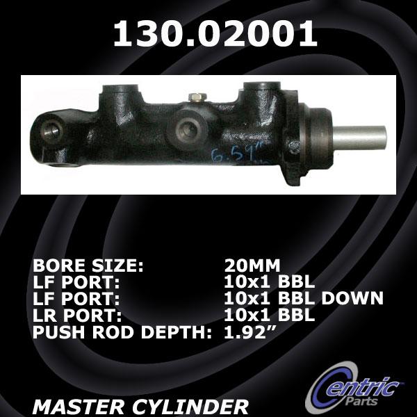 Centric Brake Master Cylinder Alfa Romeo 130.02001 [130