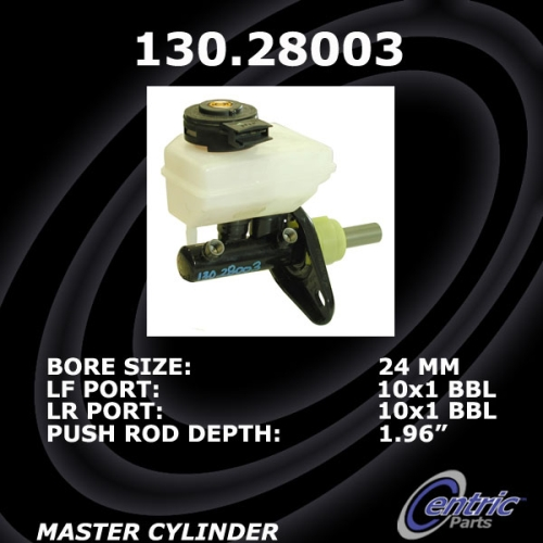 Centric Brake Master Cylinder non ABS 130.28003