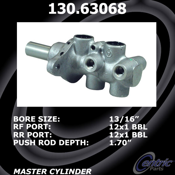New Centric Brake Master Cylinder Jeep 130.63068