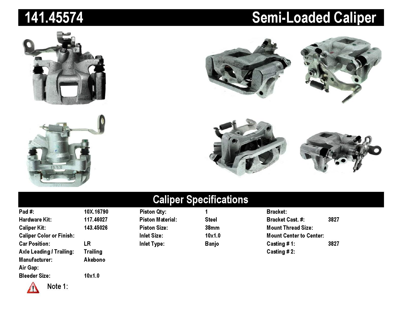 rear left unloaded rebuilt brake caliper mazda 141 45574