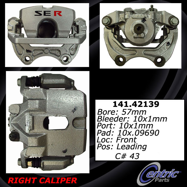 Front Right Unloaded Rebuilt Brake Caliper 141.42139