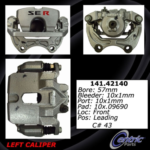 Front Left Unloaded Rebuilt Brake Caliper 141.42140