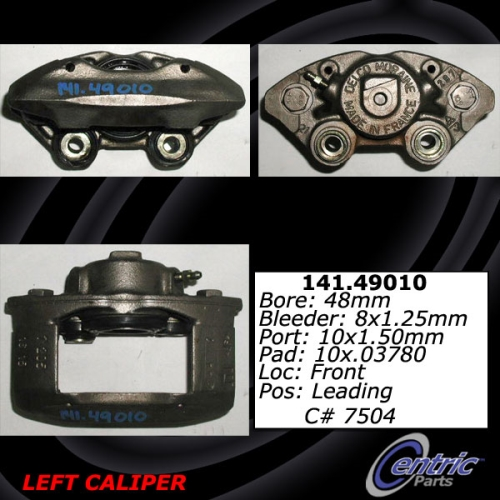 Front Right Unloaded Brake Rebuilt Caliper Pontiac 141.49009