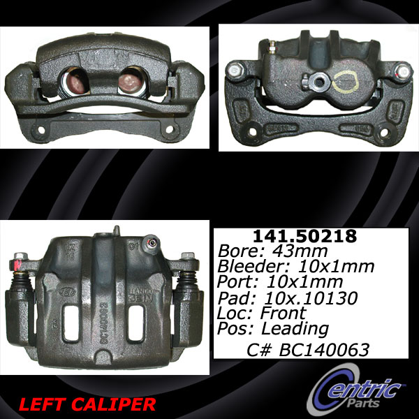 Front Left Unloaded Rebuilt Brake Caliper 141.50218