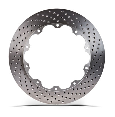 Left STOPTECH Aero Drilled Bare Iron Finish Disc 31.326.1201.99