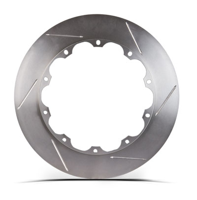 Left STOPTECH Aero Slotted Bare Iron Finish Disc 31.326.1101.99