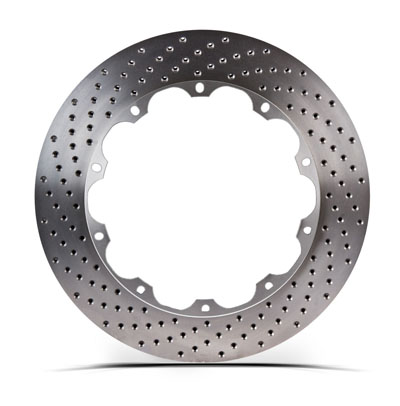 Right STOPTECH Aero Drilled Bare Iron Finish Disc 31.326.1202.99