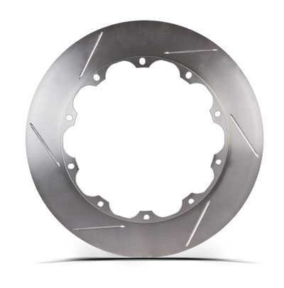 Right STOPTECH Aero Slotted Bare Iron Finish Disc 31.326.1102.99