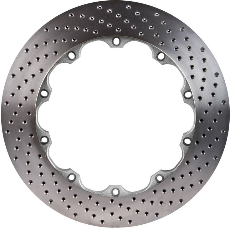 Left STOPTECH Aero Drilled Bare Iron Finish Disc 31.747.1201.99