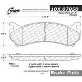 Front C-Tek Semi-Metallic Brake Pads 102.07850