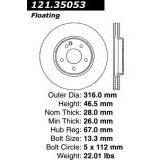 Front Brake Disc 1996-1997 Mercedes Benz C36 AMG 02147