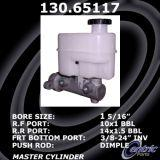 New Centric Brake Master Cylinder Ford 130.65117